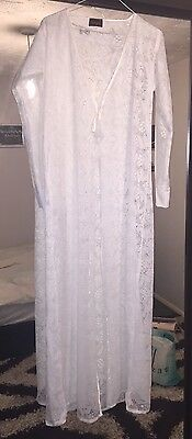 White Netted Abaya Gown Size 58