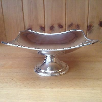 Antique Silver Plated Square Pedestal Dish