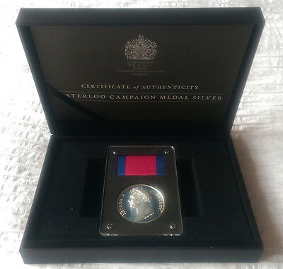 Waterloo Campaign Medal Silver & Bronze & Gold Duke of Wellington Coin