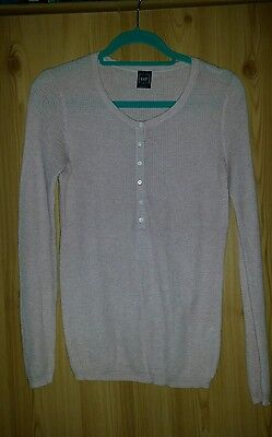 GAP long sleeved heather pink top. Size S
