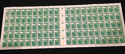 Full Sheet 100 MNH 1982 Commonwealth Games - Archery 27c stamps