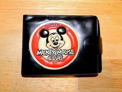 Vintage Mickey Mouse Club Mouseketeer Member Wallet Black