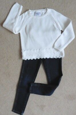 Girls New Young Dimension Jumper +Pair Of George Jeggings,( Used) Age 7 -8 Years