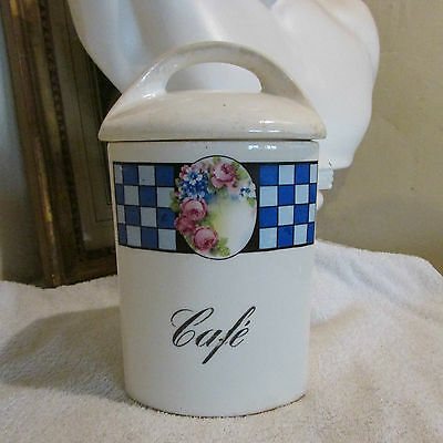 Ancien Pot Lustucru Cafe En Porcelaine Gerda / 20.5 Cm