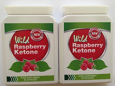 2x Wild Raspberry Ketone Dietary Supplement - 60 Capsules.Fast Delivery.