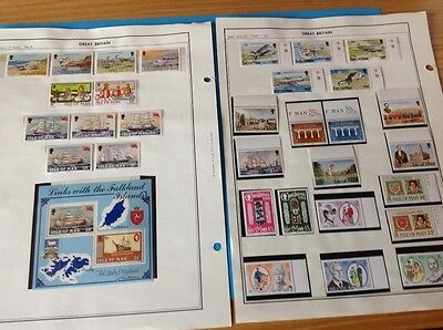 Postage Stamps Isle of Man Mint Collection 1983-2016