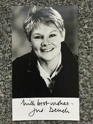 Autograph: Hand signed Print by English Actress Dame Judi Dench, from 1988