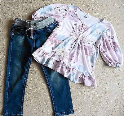 Girls Stunning Next Top + Next Stretch Jeans, Age 5 Years