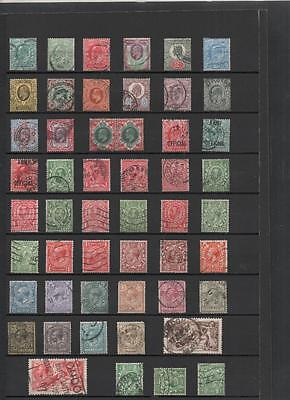 Gb 1902/51 4 Kings Used Collection On 4 Pages