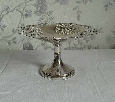A Vintage Silver Plated Tazza by Thomas Wooley