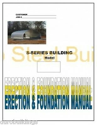 """Duro DIY """"S-Style Arch Steel Building Kit"""" Metal Buildings Construction Manual"""