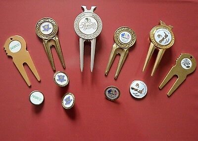 Golf pitch removers and ball marker collection