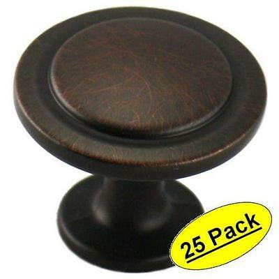 25 Pack Bronze Finish Cabinet Drawer Door pull  Hardware Heavy Metal Knob