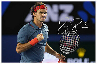 Roger Federer Australia Open 2016 Rare Autographed Large Poster. Perfect gift