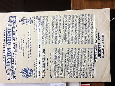 14/2/1959 Leyton Orient RES v Leicester City RES