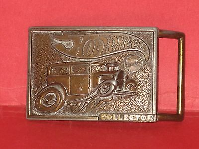 Hot Wheels Collector Brass Belt Buckle ©1978 Mattel #2385-6019