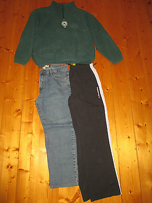 Mens Diadora Tracksuit Pants, Jeans and Jumper - Size M