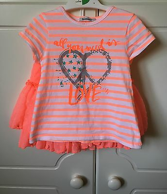 GIRLS - 3POMMES Love T-Shirt + Tutu Set  - 2 Years