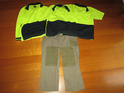 4 Mens Assorted Work Wear Pieces Including Tops and Pants - Size M & L
