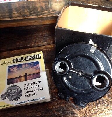Sawyers Viewmaster 1940s Model A Clamshell Bakelite With Original Papers