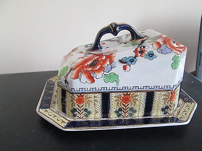 Antique Keeling & Co Losol Ware Large Cheese Dish Shanghai Pattern