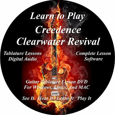 CCR Guitar TABS Lesson CD 30 Songs + Backing Tracks + BONUS!!