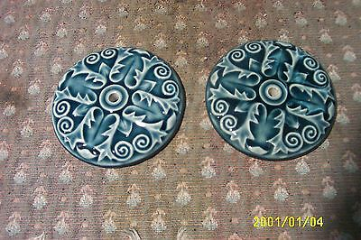 antique cast iron parlor stove tile reproductions from originals blue  3 1/8