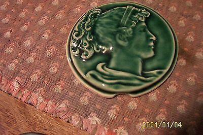antique cast iron parlor stove tile reproductions from originals green  4 1/4