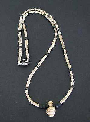NILE  Ancient Egyptian Roman/Coptic Period Amulet Mummy Bead Necklace ca 200 AD