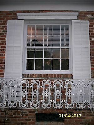 Antique Iron fence  panel Victorian Ornate 1880  BALCONY RAIL  6 feet