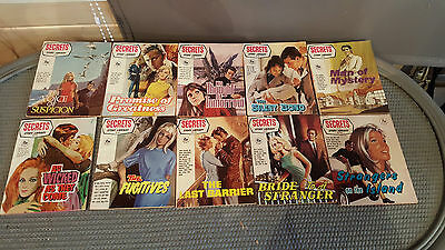 Collection of 10 Secret Story Library Magazines - Pulp Fiction - 1950's/60's