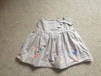 Mothercare Girls Grey Lined Skirt Age 5-6 Years