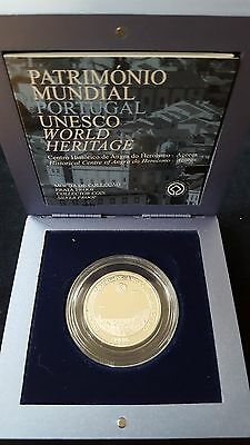"""Mds Portugal 5 Euro 2005 Pp / Proof """"angra Do Heroismo"""", Silber"""