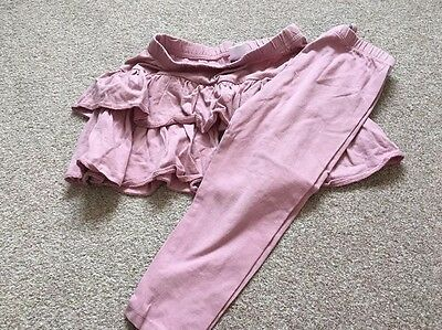 Layered Skirt And Leggings Set Size 4 Years