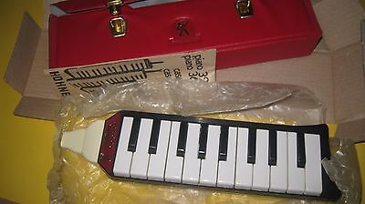 Rare Vintage Hohner Melodica Piano 20 Made in Germany Red case BRAND NEW NOS