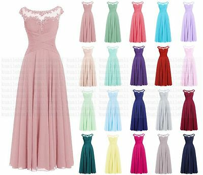 New Long chiffon Bridesmaid Evening Formal Ball Gown Cocktail Party Prom Dresses