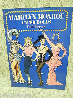 """PAPER doll book: """"MARILYN MONROE"""" paper dolls by Tierney, mint   nm-552"""
