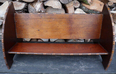 Vintage Art Deco Style 1920S or 1930S Small Wooden Book Shelf/Rack/Case