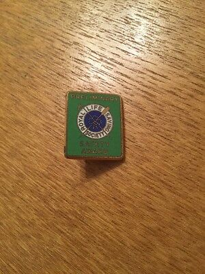 Royal Life Saving Safty Award Pin Badge