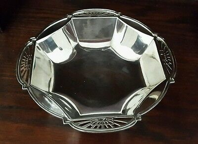 A Stunning Art Deco Silver Plated Bowl by Frank Cobb