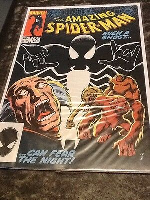 The Amazing Spider-man Comic Book Issue 255 Bagged Boarded