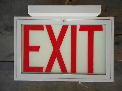 Exit sign light for parts not tested Collectible decoration Industrial Decor