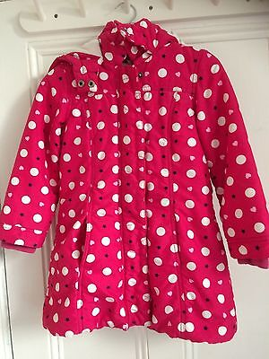 Bluezoo Girls Coat Red spots stars hearts Age 5-6