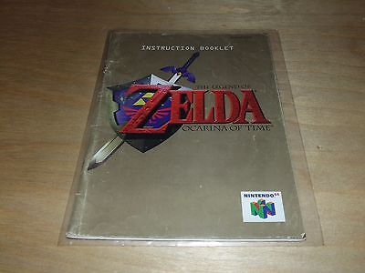 The Legend of Zelda: Ocarina of Time (Nintendo 64, 1998) N64 MANUAL ONLY