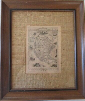 Antique Vintage Map - United States In 1851 - John Tallis & Company 5' X 7 1/2