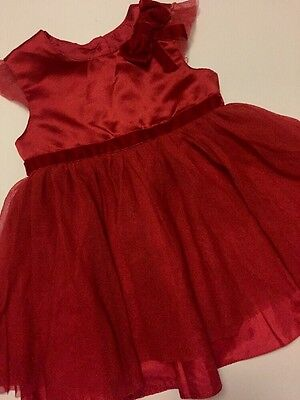 Baby Girl Red Party Christmas Dress By George Age 6-9 Months