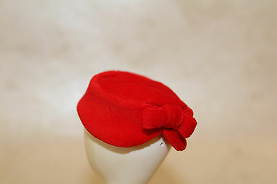 Mattel Red Velveteen HAT accessory replacement REPRO Red Flare Barbie pillbox