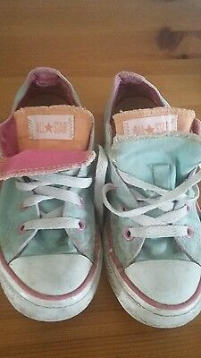 Fab girls Converse shoes size 12 1/2
