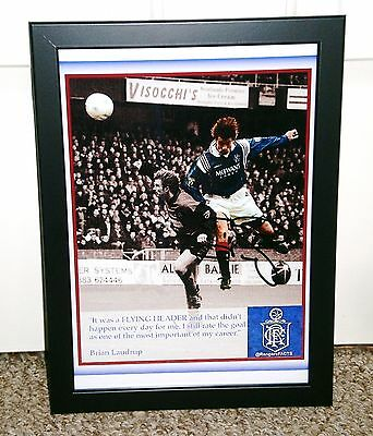 Brian Laudrup Rangers Fc Signed Photo