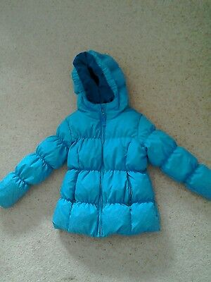 Lands End girl's blue puffa coat age 4